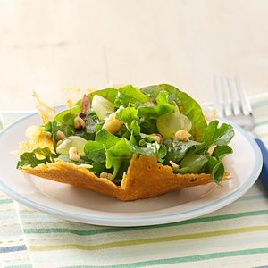 Parmesan, Walnut & Arugula Baskets