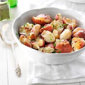 Parsley Smashed Potatoes