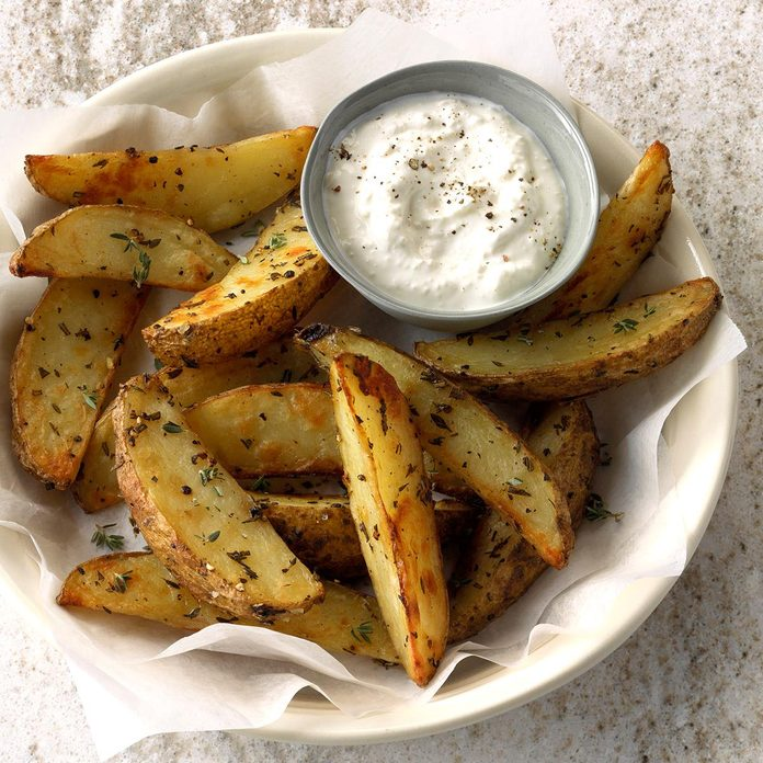 Herbed Party Potato Wedges