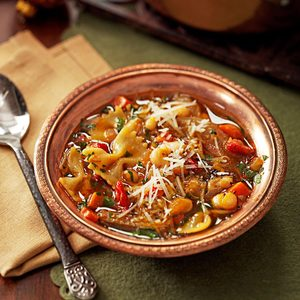 Pasta and White Bean Soup With Sun-Dried Tomatoes