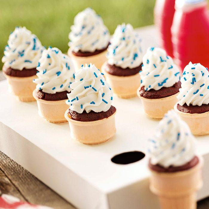 Patriotic Cupcake Cones