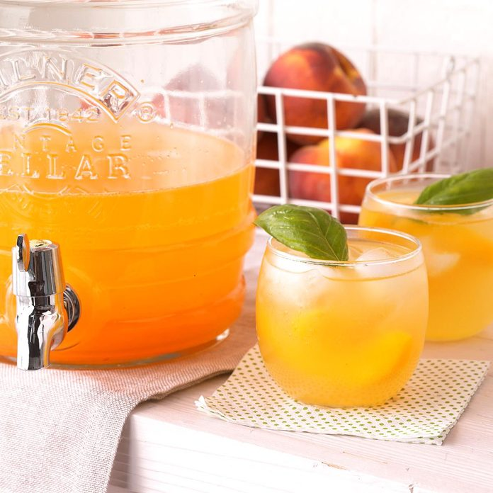 Peach-Basil Cooler