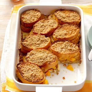 Peach-Stuffed French Toast