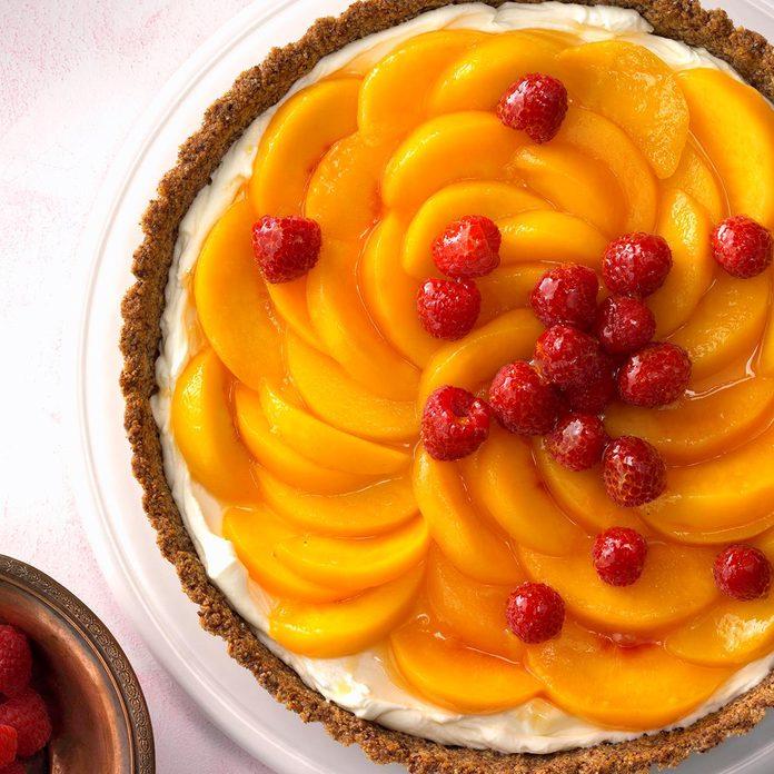 Peaches 'n' Cream Raspberry Tart
