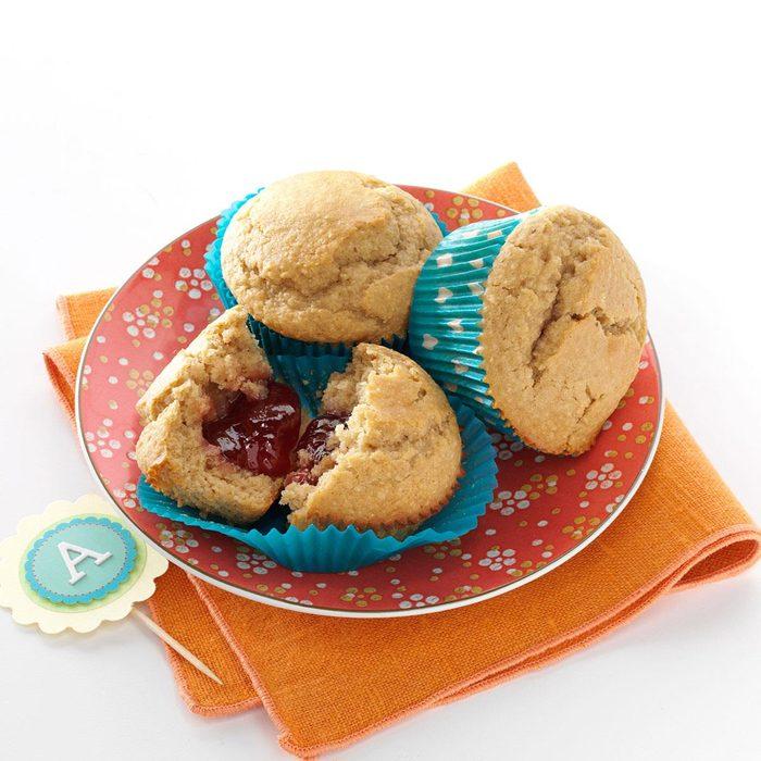 Peanut Butter & Jam Muffins