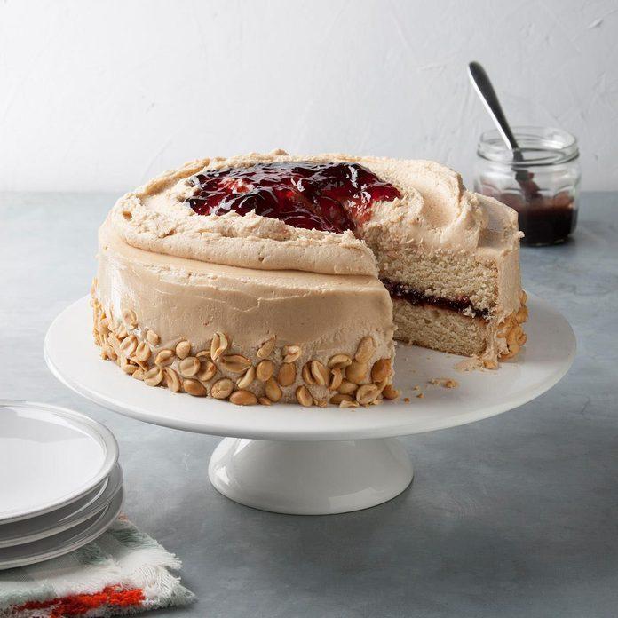 Peanut Butter  'N' Jelly Cake