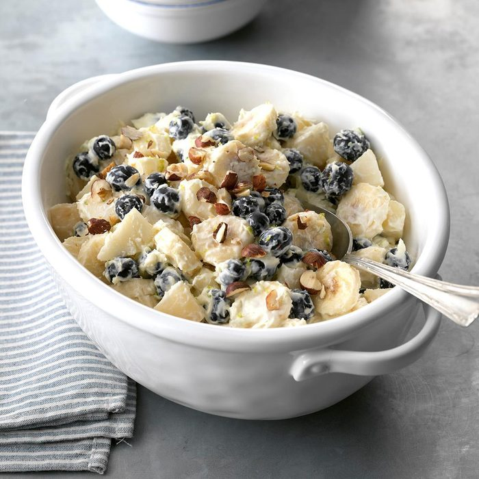 Pear-Blueberry Ambrosia with Creamy Lime Dressing