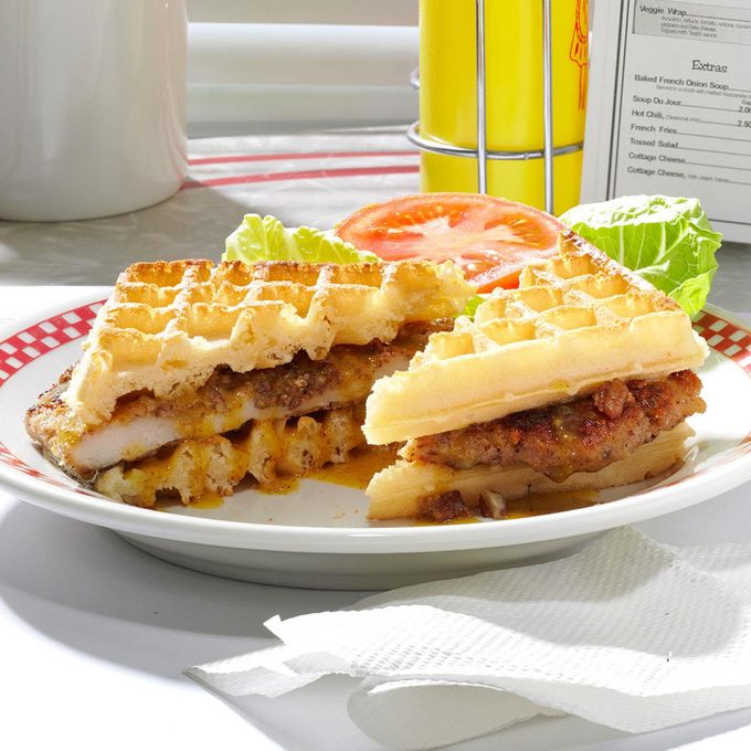 Pecan Crusted Chicken Waffle Sandwiches Exps53212 Sd2401786b02 16 5bc Rms