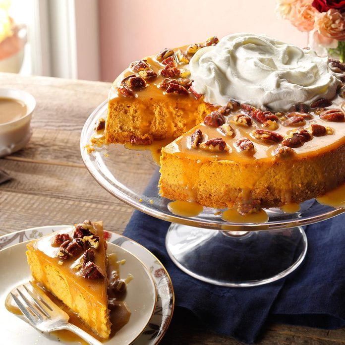 Inspired by: Pumpkin Pecan Cheesecake from Cheesecake Factory