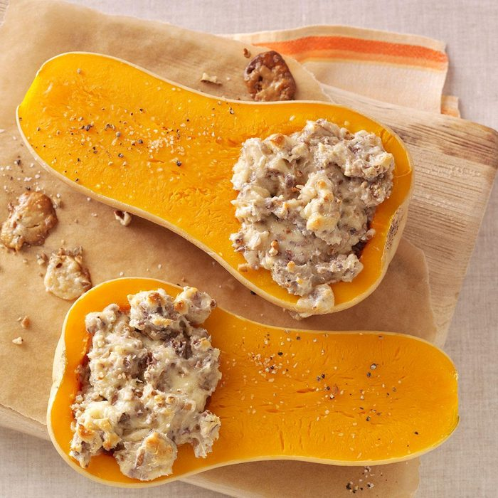 Pecan-Stuffed Butternut Squash