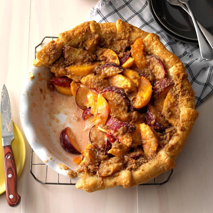 Perfect Plum & Peach Pie