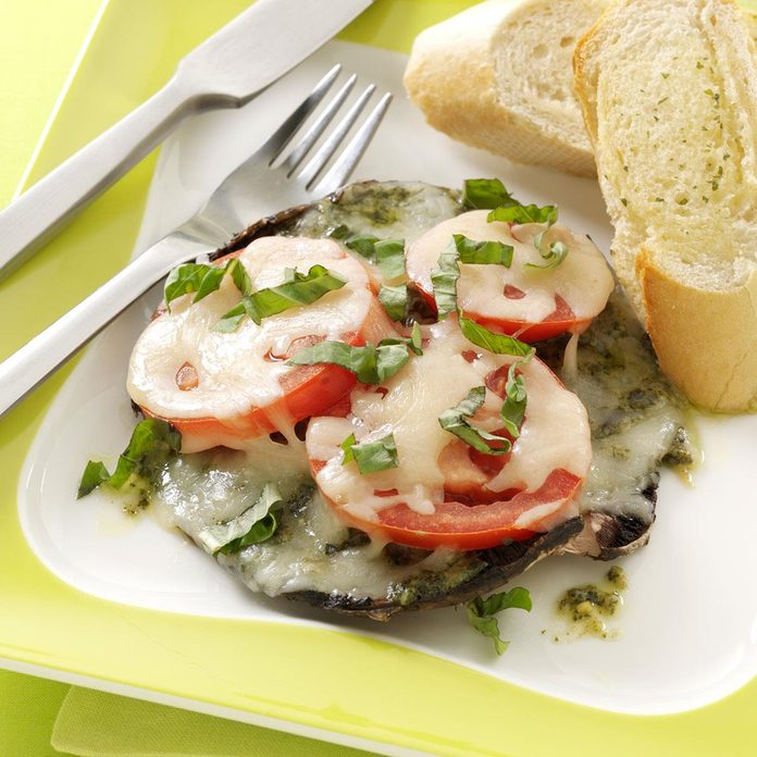Pesto Portobello Pizzas