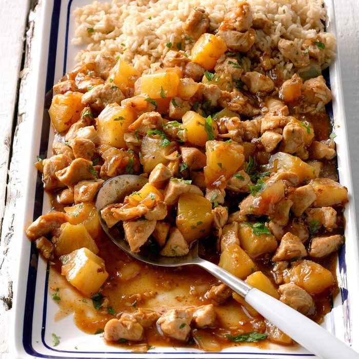 Pineapple-Ginger Chicken Stir-Fry