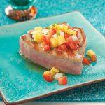 Pineapple Pico Tuna Steaks