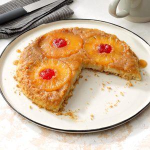 Pineapple Upside-Down Cheesecake