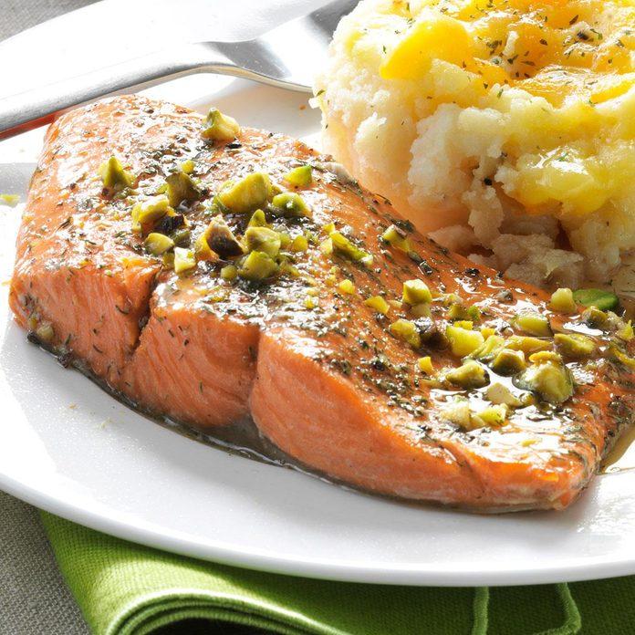 Pistachio Baked Salmon