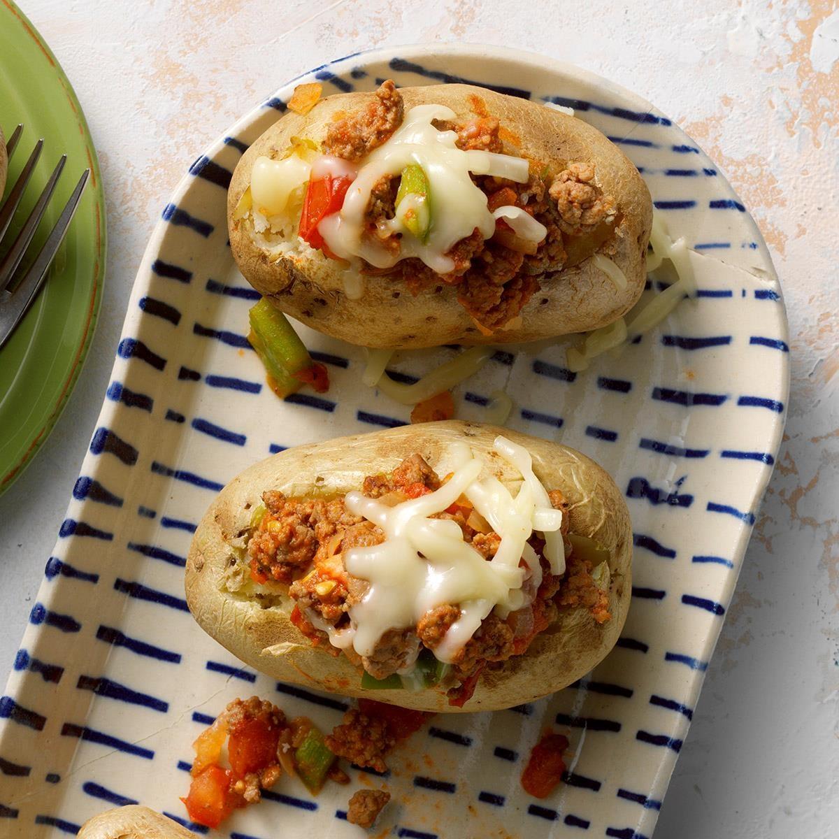 Monday: Pizza Potato Toppers