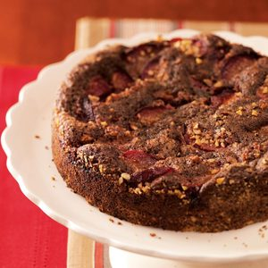 Plum-Topped Chocolate Kuchen