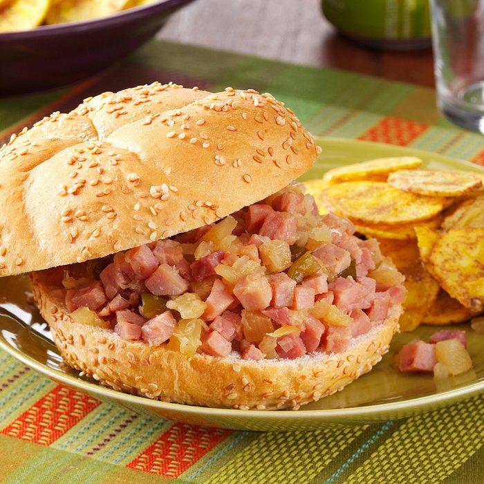 Polynesian Ham Sandwiches