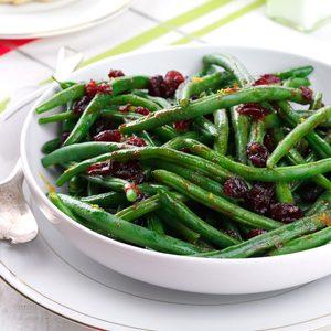 Pomegranate-Glazed Green Beans