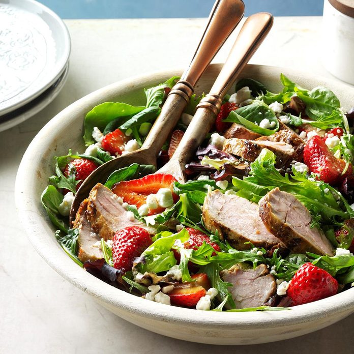 August 5: Pork and Balsamic Strawberry Salad
