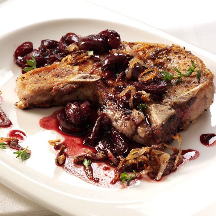 Pork Chops with Cherry Sauce