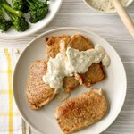 Pork Chops with Parmesan Sauce