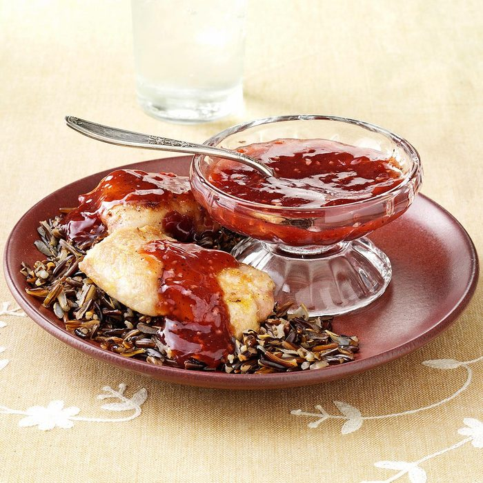 Pork Medallions with Pomegranate Sauce
