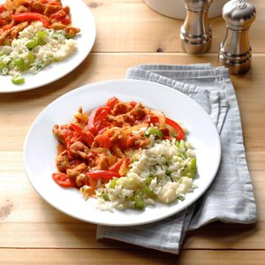Pork Piperade