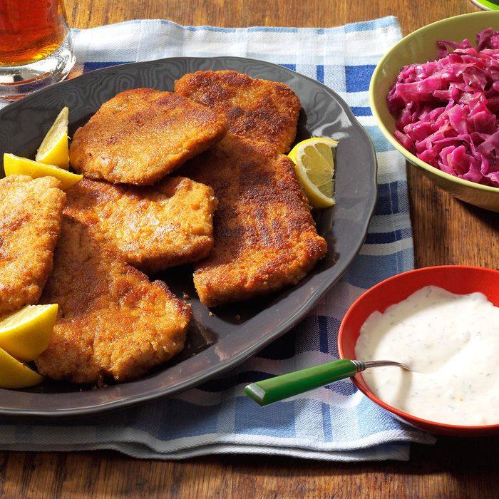 Pork Schnitzel with Dill Sauce