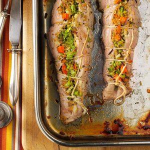 Pork Tenderloins with Wild Rice