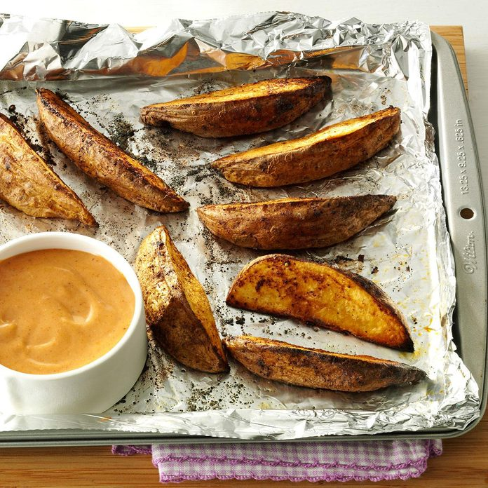 Potato Wedges With Sweet Spicy Sauce Exps167809 Sd143203d10 16 8bc Rms 1