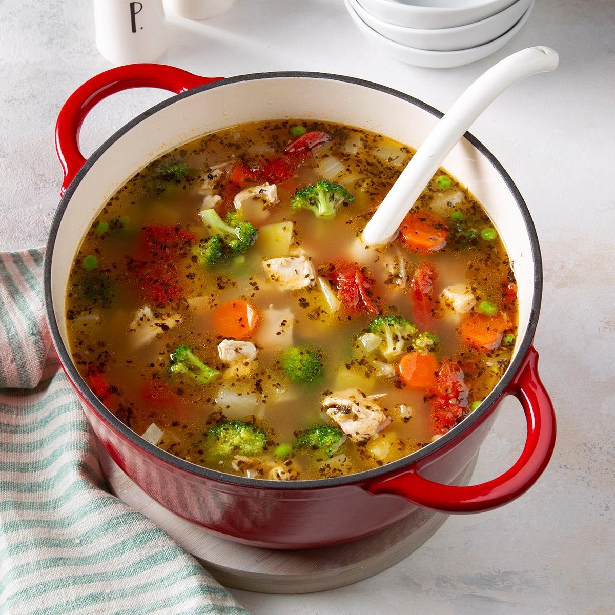 Potluck Chicken Vegetable Soup