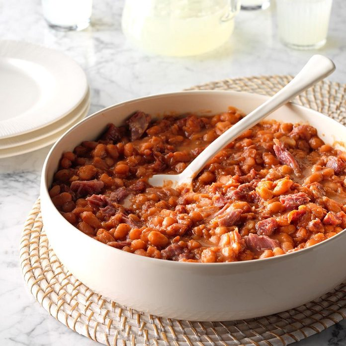 Pressure-Cooker BBQ Baked Beans