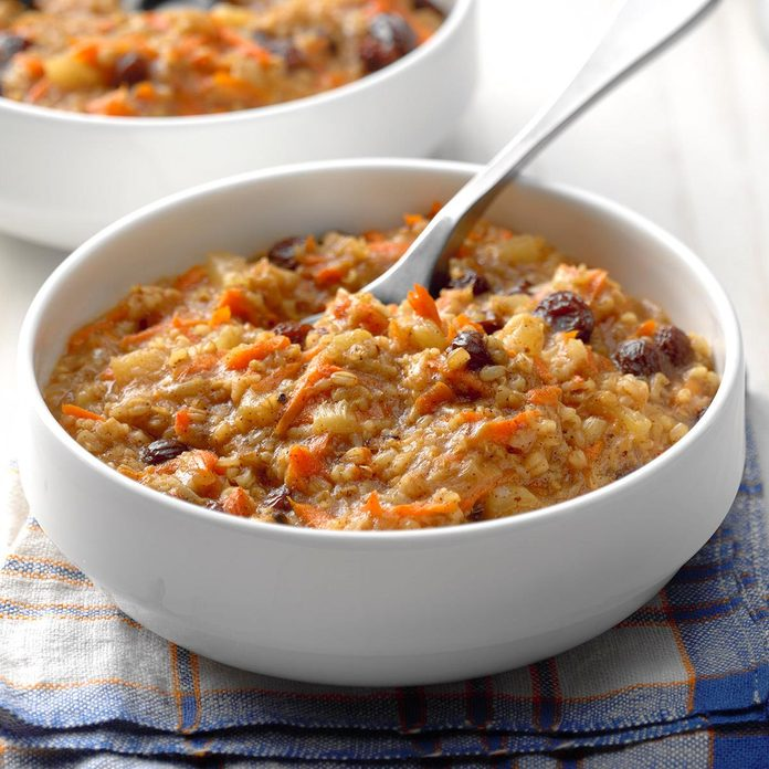 Pressure-Cooker Carrot Cake Oatmeal