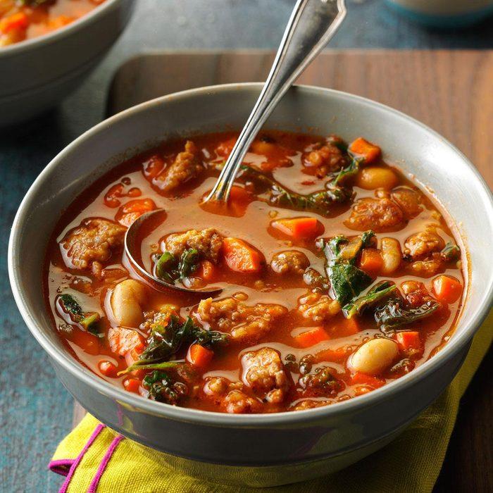 Pisces: Pressure Cooker Italian Sausage & Kale Soup
