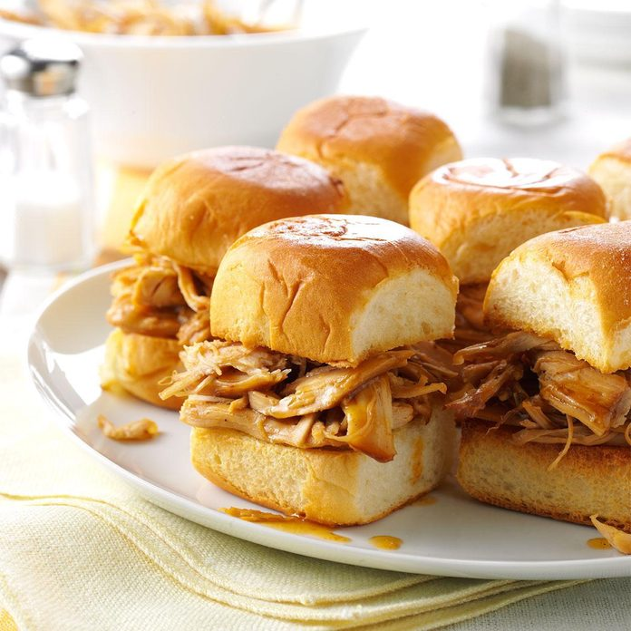 Pressure Cooker Mini Teriyaki Turkey Sandwiches
