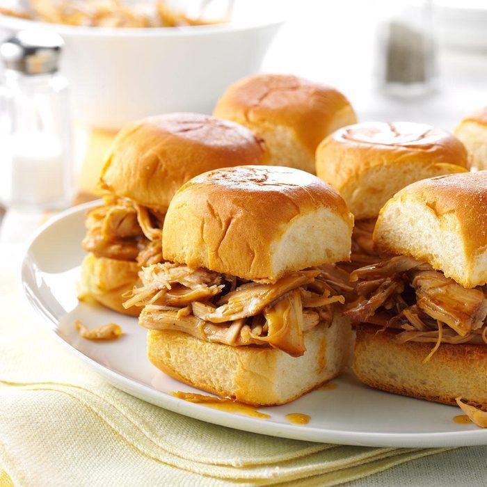 Pressure-Cooker Mini Teriyaki Turkey Sandwiches