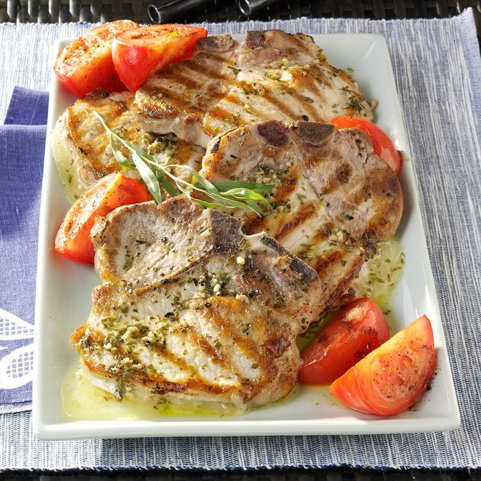 Provolone Stuffed Pork Chops With Tarragon Vinaigrette Exps84067 Th2379797a11 29 6bc Rms