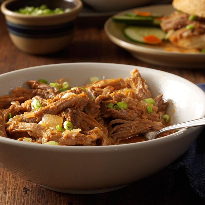 Pulled Pork with Ginger Sauce