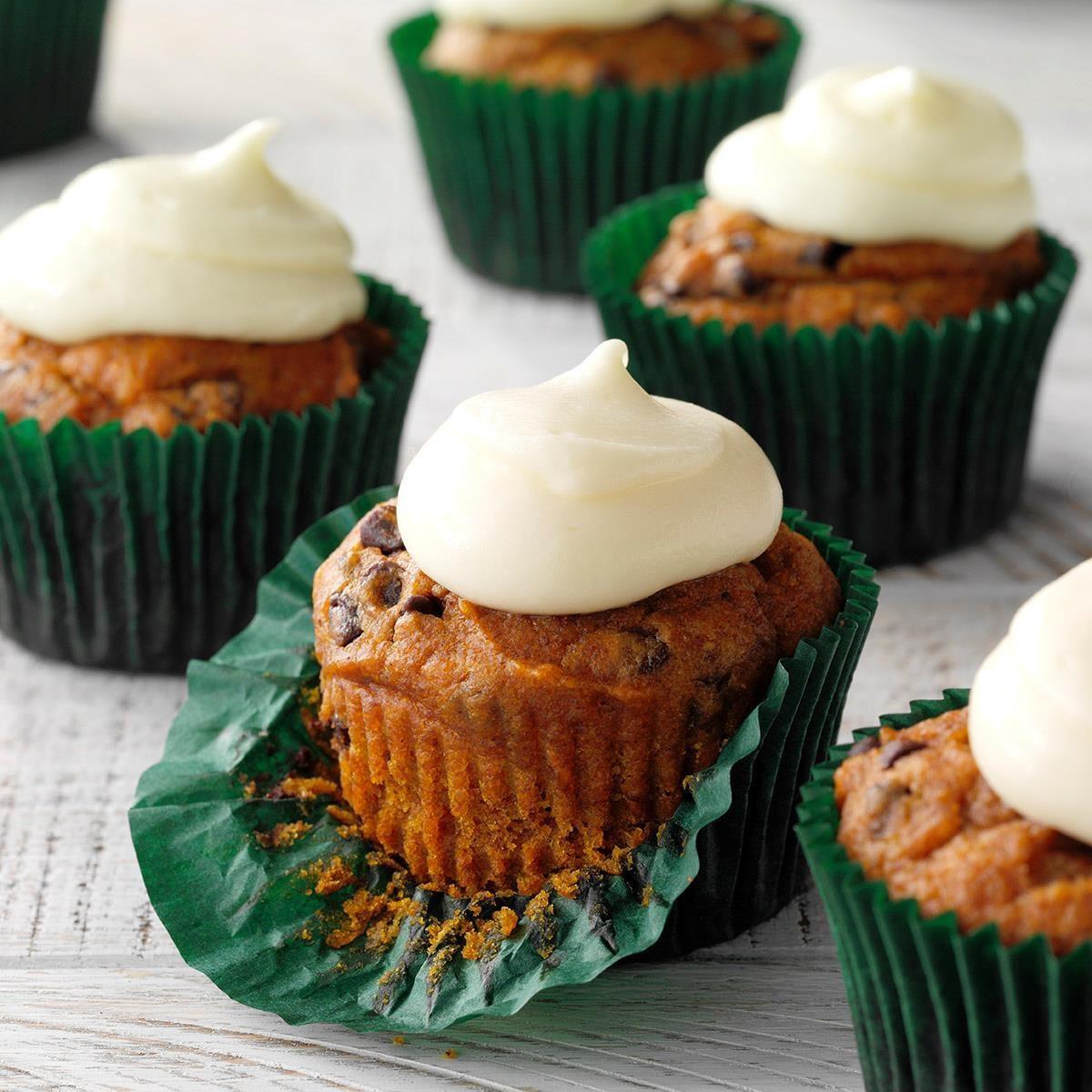 Pumpkin Chip Cupcakes