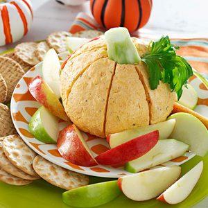 Pumpkin-Shaped Cheese Ball