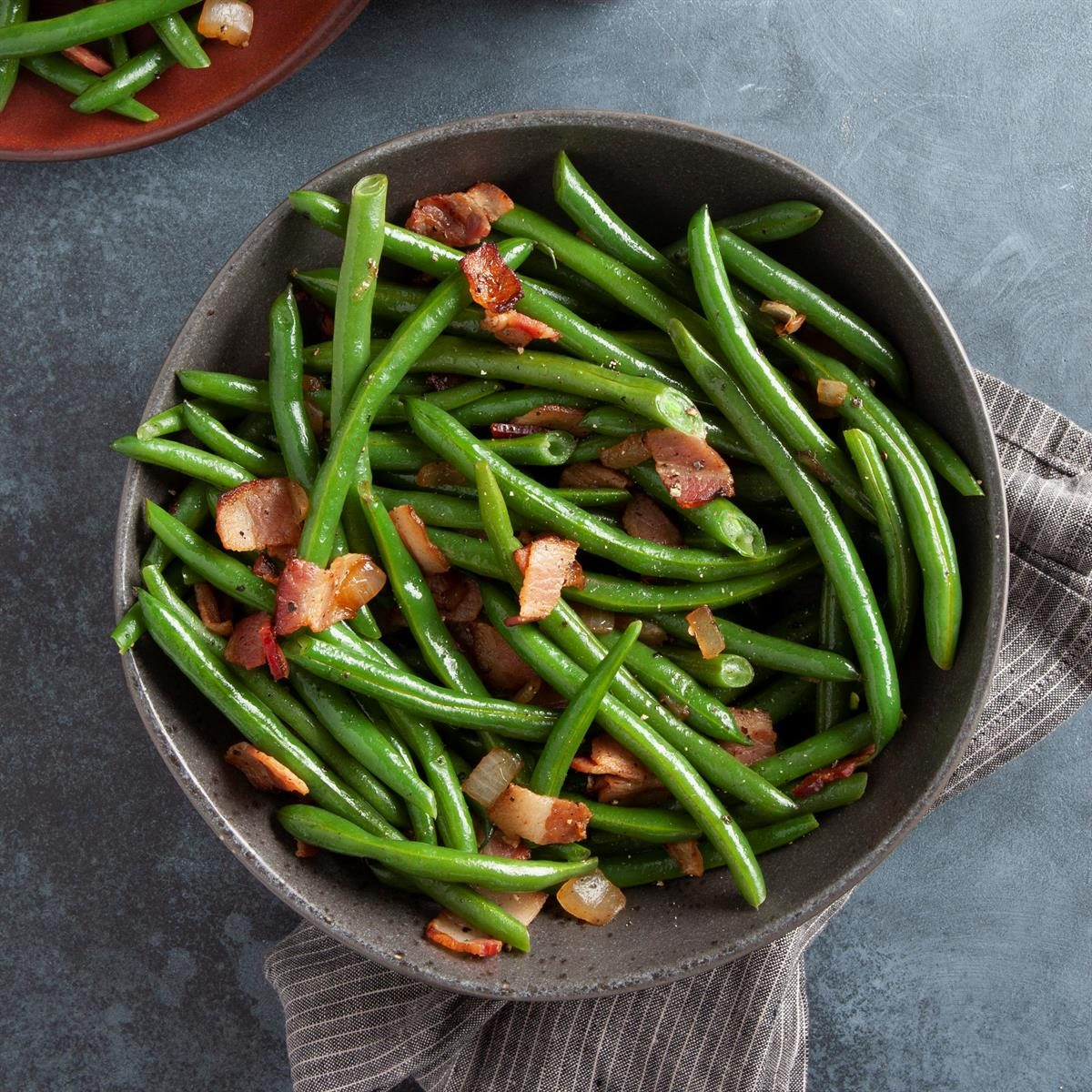 Quick Green Beans with Bacon