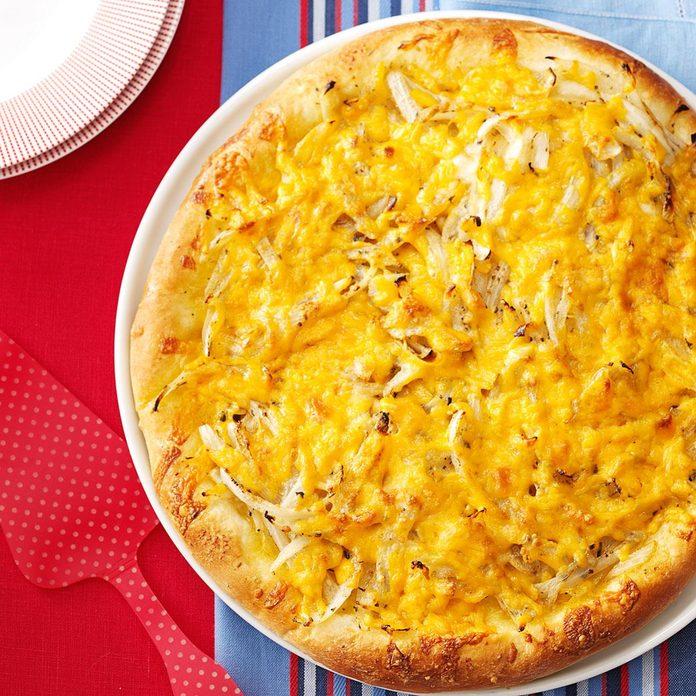 Quicker Cheesy Onion Focaccia Bread