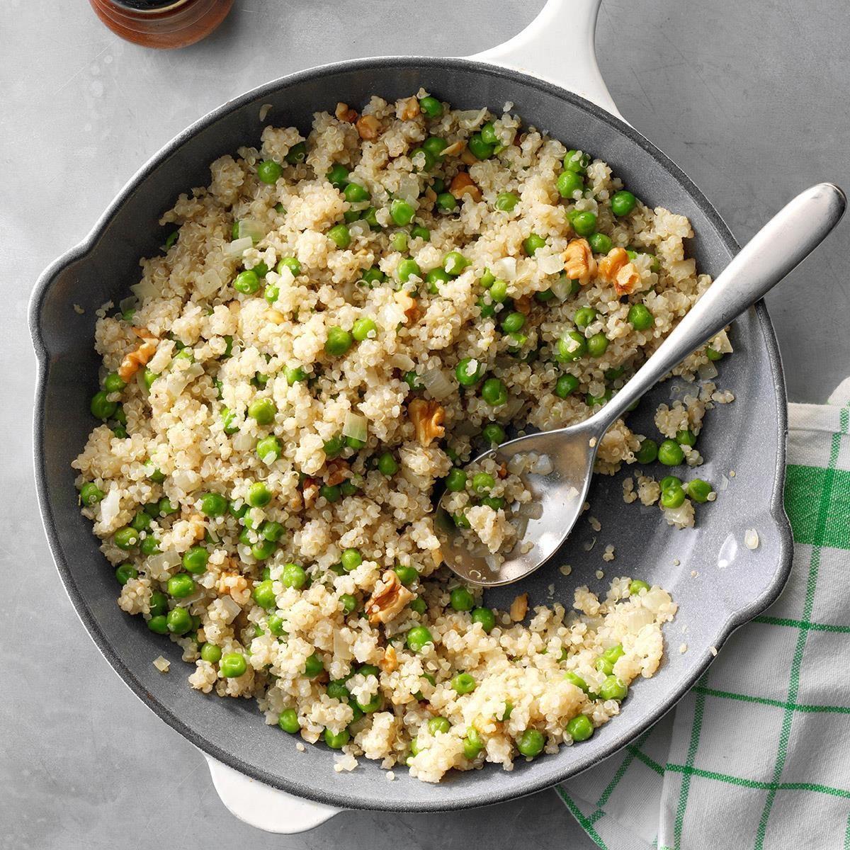 Vegan Quinoa with Peas and Onion