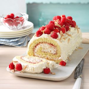 Raspberry-Almond Jelly Roll