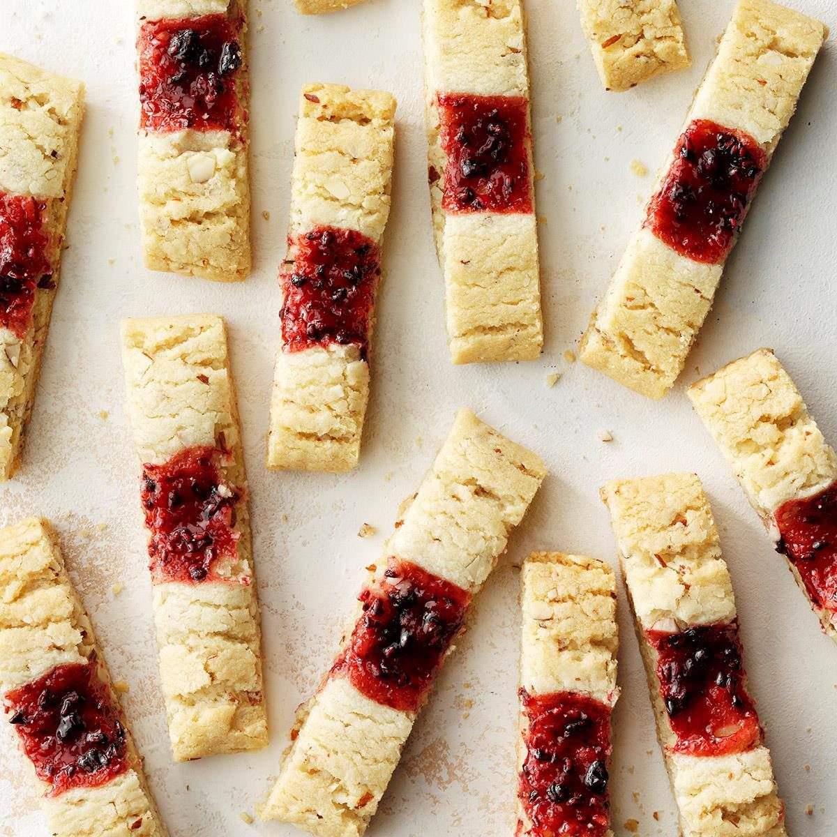 Raspberry Almond Strips