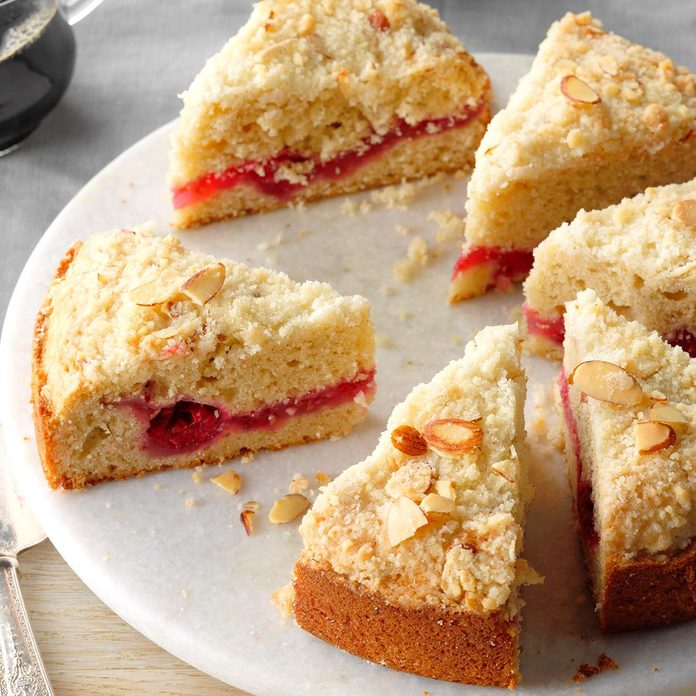 Raspberry Crumble Coffee Cake