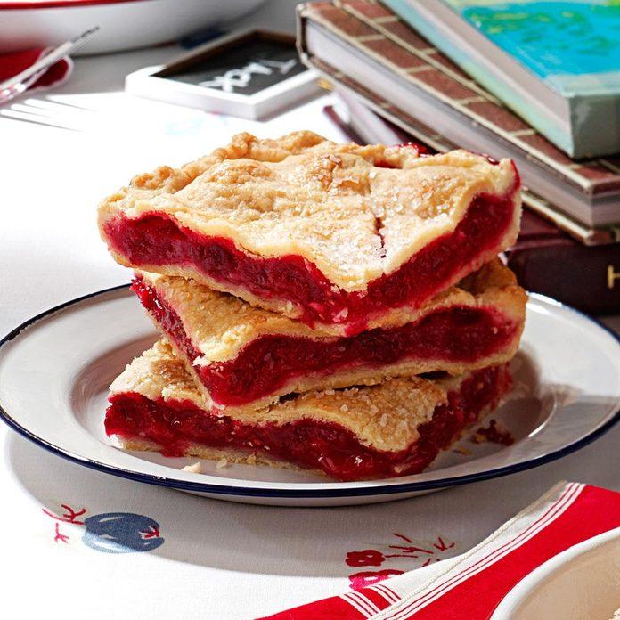 Raspberry Pie Squares