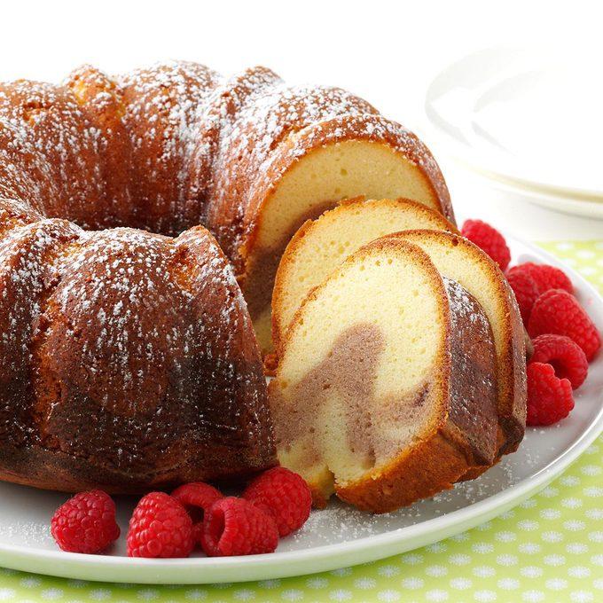 Raspberry Swirl Pound Cake